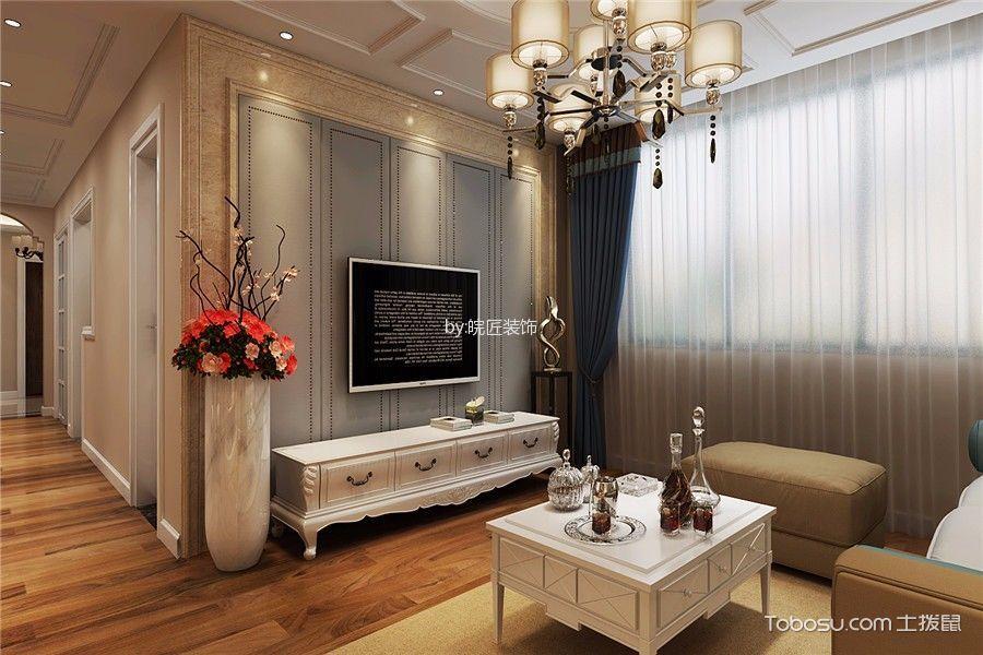 客厅灰色窗台美式风格装修效果图