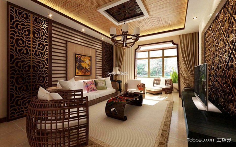 扬州天下160平东南亚风格装修设计效果图