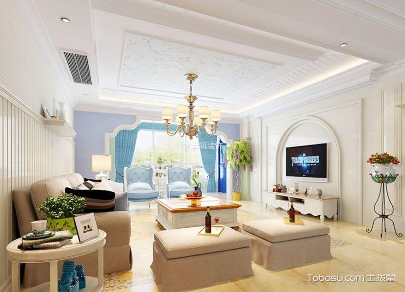 香江世纪名城190平英式田园风格装修效果图