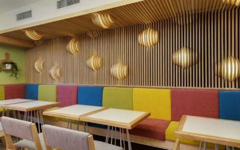 商业大学鲜之语咖餐厅工装效果图