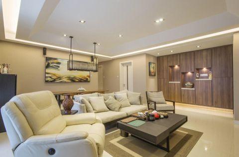 客厅咖啡色背景墙混搭风格装潢设计图片