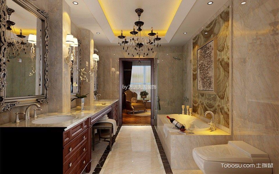 卫生间 背景墙_都会轩欧式风格效果图图片