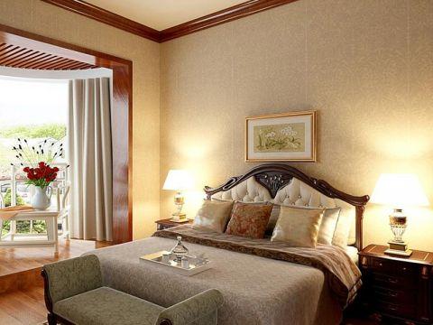 豪华简装卧室窗帘装潢图片