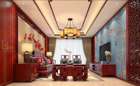中信公园城两室一厅中式风格效果图