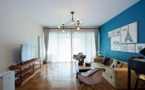 金旭园蓝色调两居室北欧风格效果图