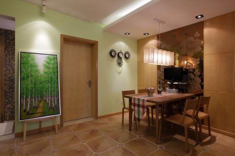 餐厅绿色背景墙现代简约风格装潢设计图片