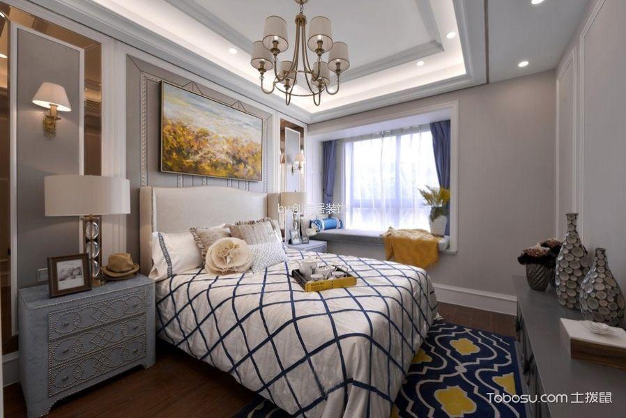 卧室白色吊顶欧式风格装修设计图片