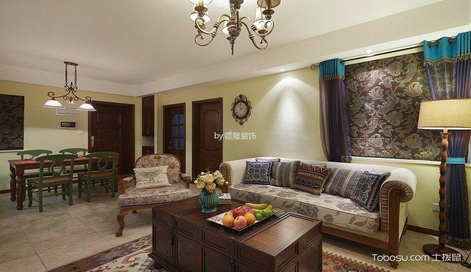 2018东南亚客厅装修设计 2018东南亚茶几效果图