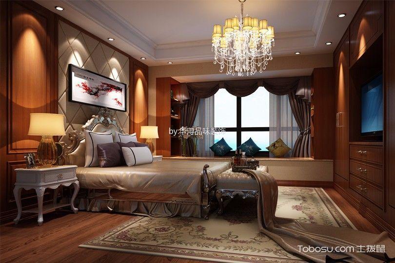 2018欧式卧室装修设计图片 2018欧式床头柜装修设计图片