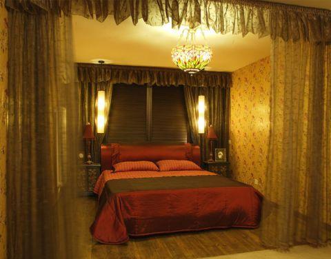 东南亚简装卧室吊顶装修实景图片