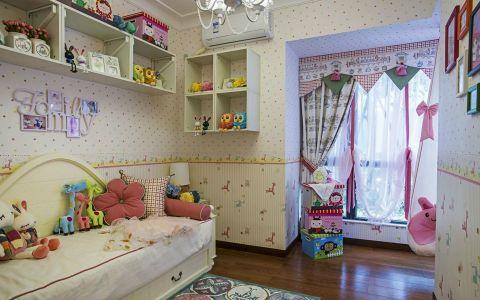 美式儿童房背景墙平面图
