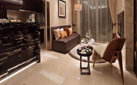 客厅咖啡色沙发现代风格装潢效果图