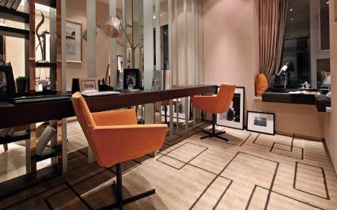 2018现代书房装修设计 2018现代书桌图片