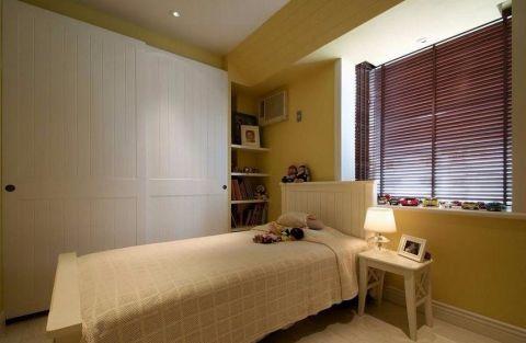 卧室黄色博古架家装设计图