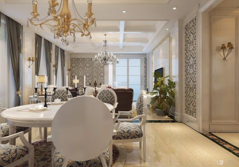 格调米色餐厅室内装修设计