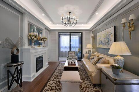 客厅白色吊顶欧式风格装修图片