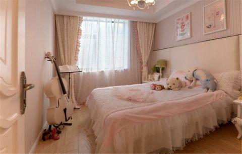 卧室粉色背景墙欧式风格装修效果图