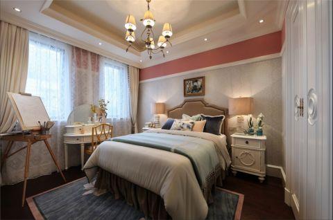 卧室米色吊顶欧式风格装饰效果图