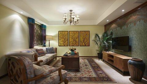 东南亚客厅茶几设计效果图