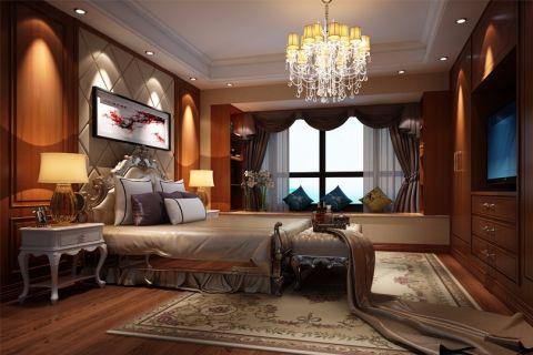 卧室白色床头柜欧式风格效果图