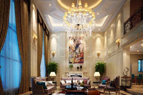 2018欧式客厅装修设计 2018欧式窗帘装修效果图片