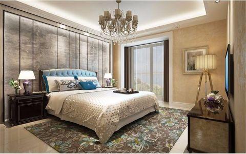 卧室绿色床简欧风格装饰图片