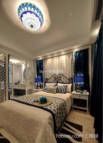 2019地中海卧室装修设计图片 2019地中海床头柜装修设计图片
