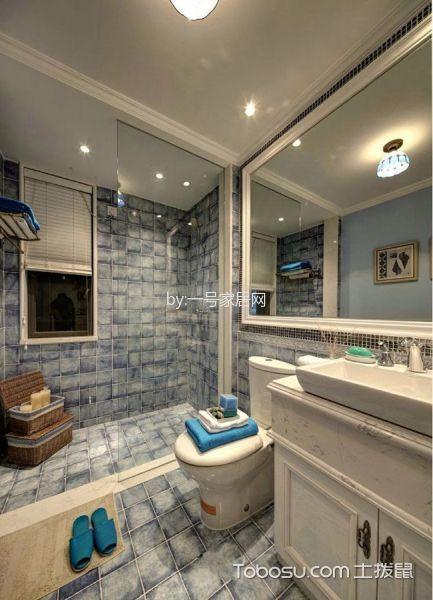 卫生间白色洗漱台地中海风格装饰图片
