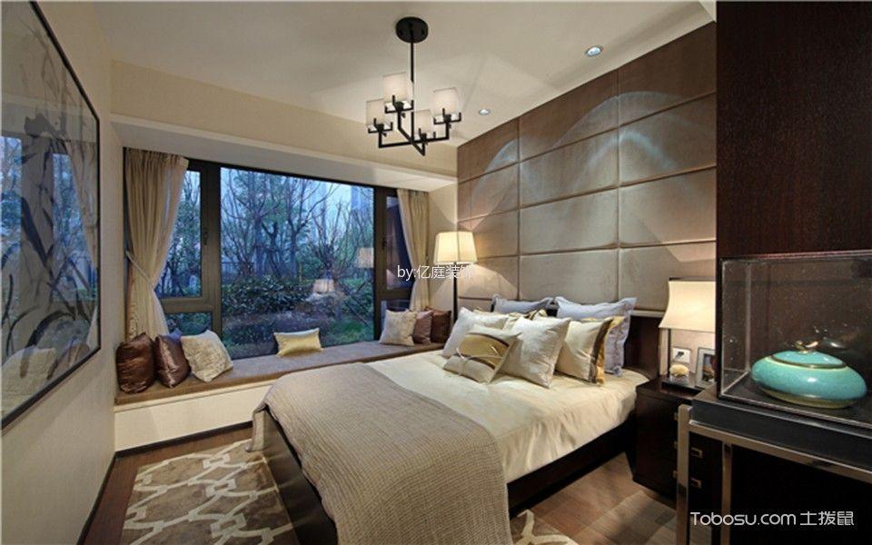 天瑞华府120平米新中式风格三居室装修效果图