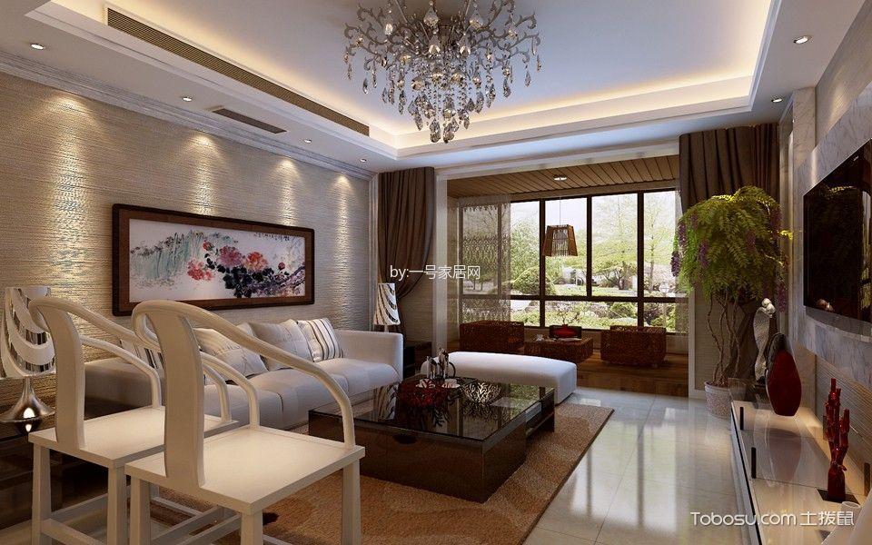 凤凰国际三居室新中式风格
