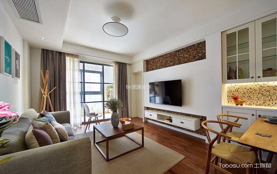 广厦天都城宾果公寓欧式风格两居室效果图