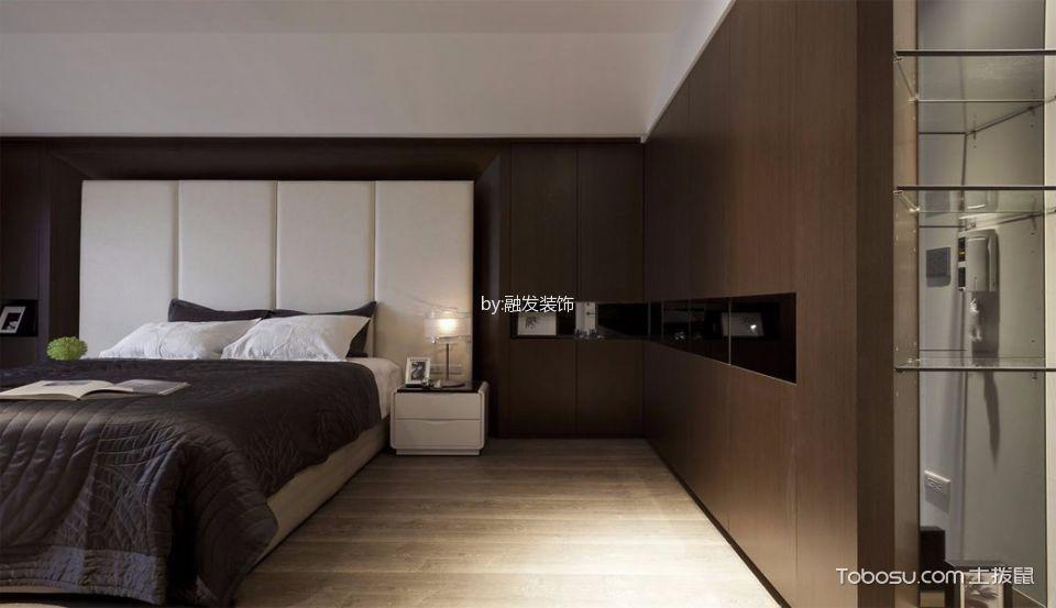 混搭卧室床头柜装潢实景图