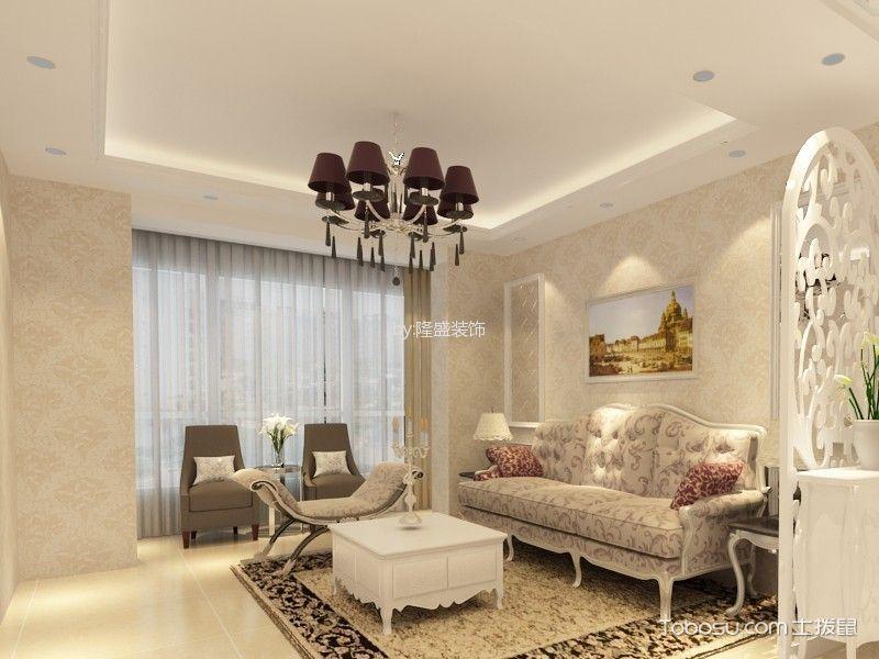 中海90平米简欧风格二居室装修效果图