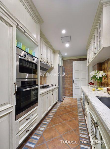 惠康苑90平米美式风格一居室装修效果图