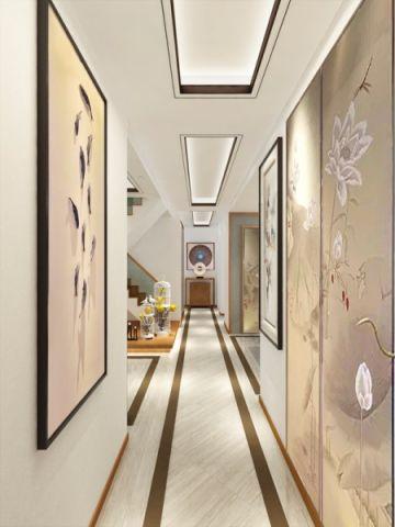 世茂天域华府256平米新中式风格三居室装修效果图