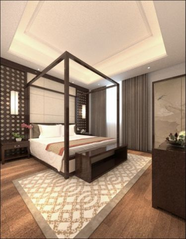 卧室走廊新中式设计方案