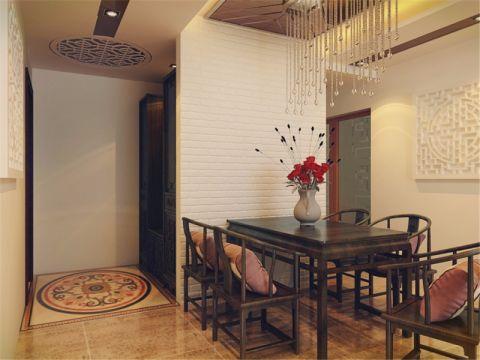 餐厅白色吊顶中式风格装饰图片