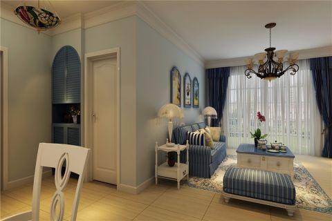 客厅彩色照片墙地中海风格装饰效果图