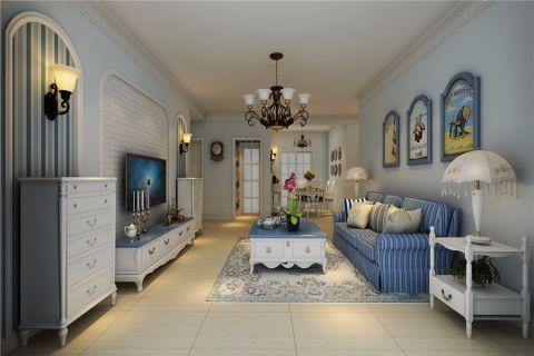 客厅米色走廊地中海风格装修图片