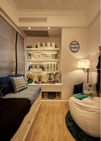儿童房黄色地板砖地中海风格装修效果图