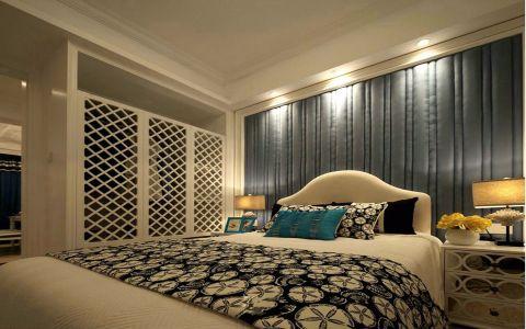卧室白色床地中海风格装饰效果图