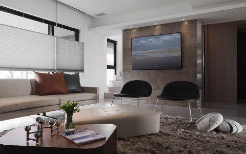 高贵风雅灰色客厅装饰图片