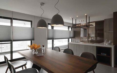 餐厅灰色吊顶现代风格装修效果图