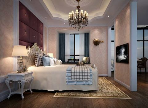 卧室窗帘简欧风格装饰效果图
