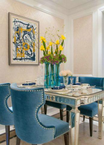 滨江瑞锦120平米美式风格四居室装修效果图