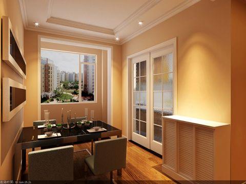 餐厅白色推拉门中式风格装潢图片