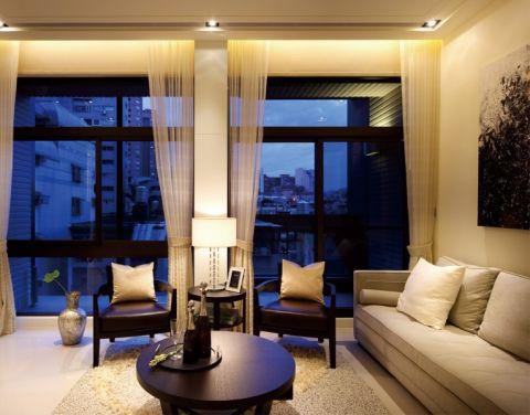 本案采用现代简约装修风格,纯净自然,纯净世界里的浪漫温馨。客厅的背景墙没有做特殊处理,简单的装饰画带来不一样的时尚感。