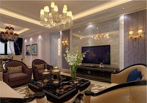 和泓四季恋城120平米欧式风格三居室装修效果图