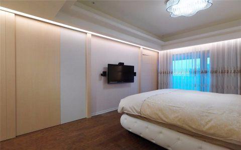 卧室白色背景墙实景图
