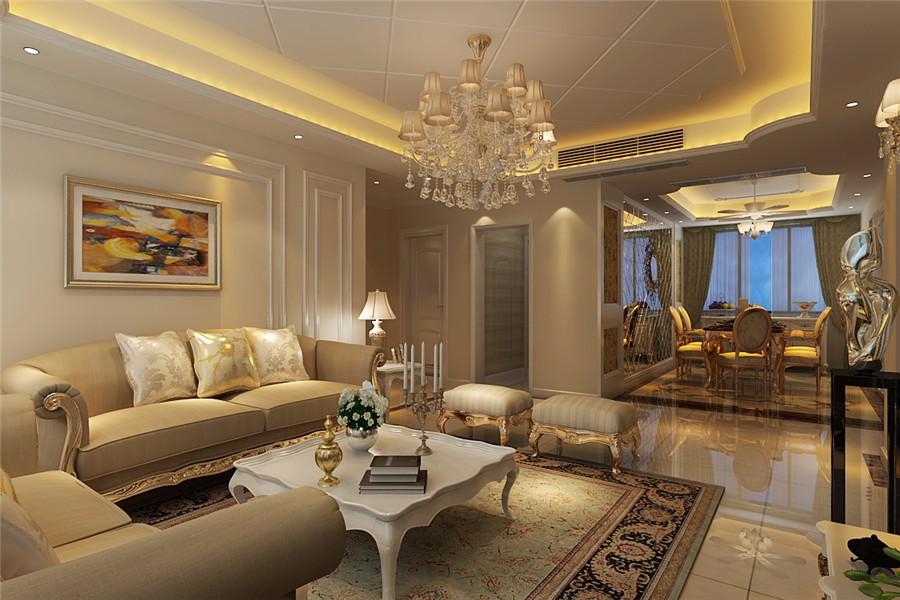 3室1卫2厅120平米简欧风格